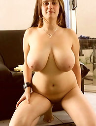 Alluring older momma is covered with cum