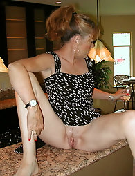 Lustful older granny gets nude